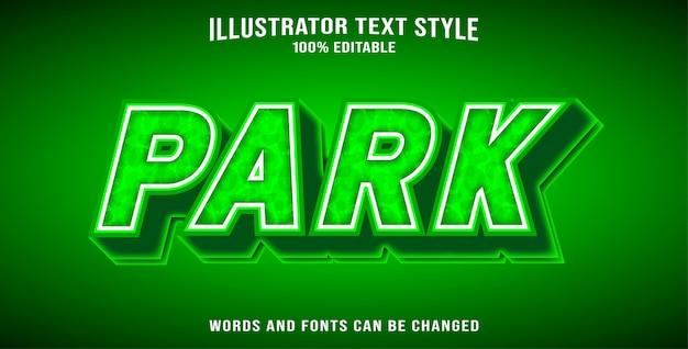 Text effect park