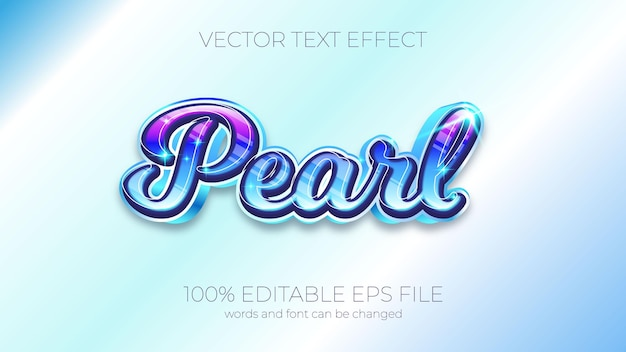 Text effect of pearl vector illustration