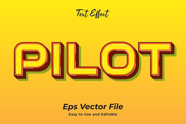 Text effect pilot editable and easy to use premium vector