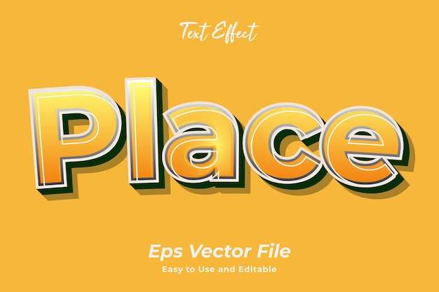 Text effect place editable and easy to use premium vector