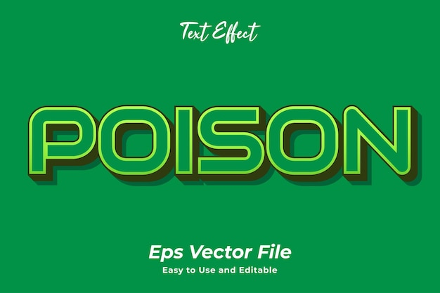 Text effect poison editable and easy to use premium vector
