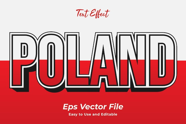 Text effect poland editable and easy to use premium vector