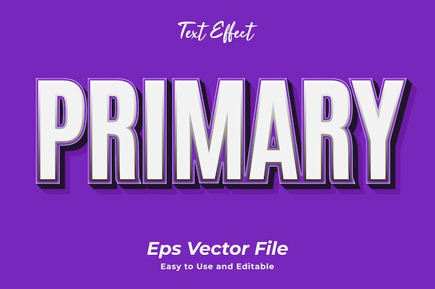 Text effect primary editable and easy to use premium vector