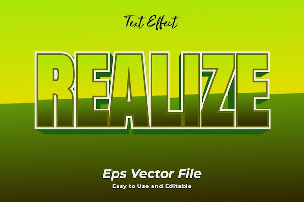 Text effect realize editable and easy to use premium vector