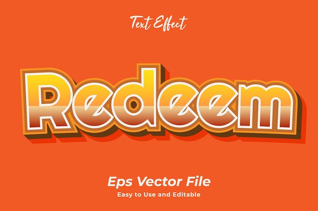 Text effect redeem editable and easy to use premium vector