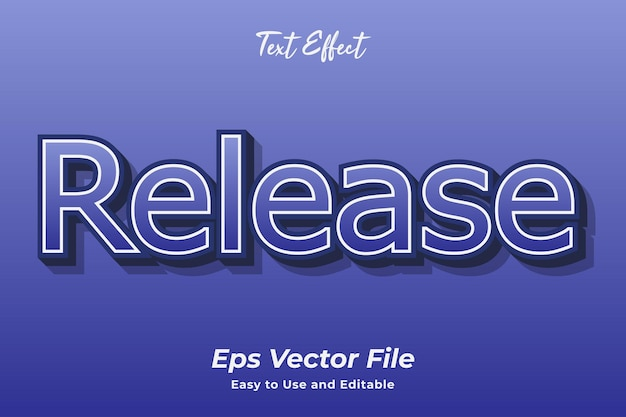 Text effect release easy to use and editable premium vector