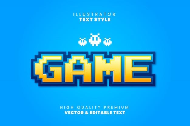텍스트 효과-레트로 게임 스타일