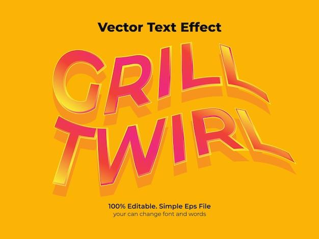 Текстовый эффект ретро волна