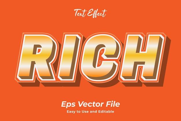 テキスト効果リッチ使いやすく編集しやすい高品質のベクター