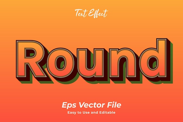Text effect round editable and easy to use premium vector