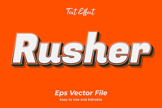 Text effect rusher easy to use and editable premium vector