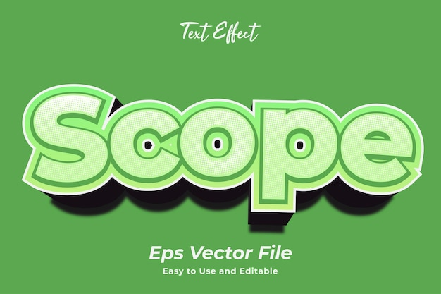 Text effect scope editable and easy to use premium vector