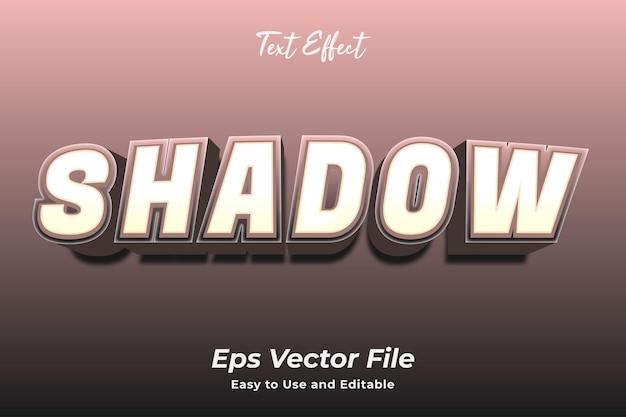Текстовый эффект: тень редактируется