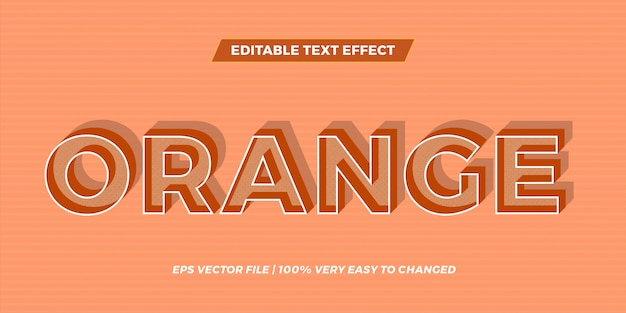 Text effect in shadow orange words text effect theme editable retro concept
