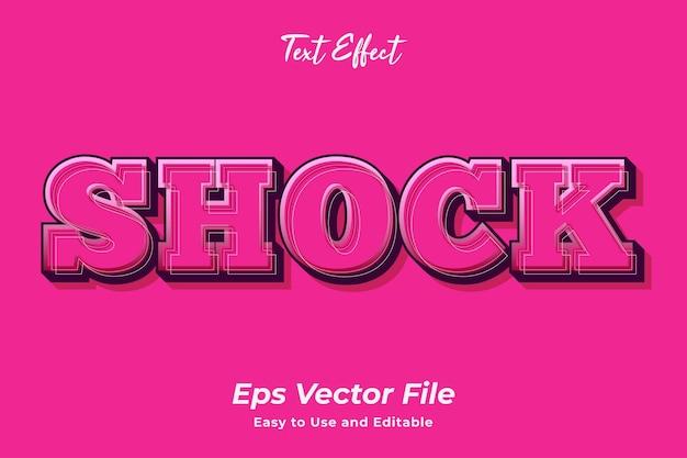 Текстовый эффект шок редактируемый эффект типографики