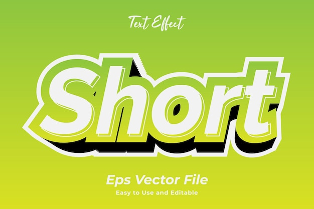 Text effect short editable and easy to use premium vector