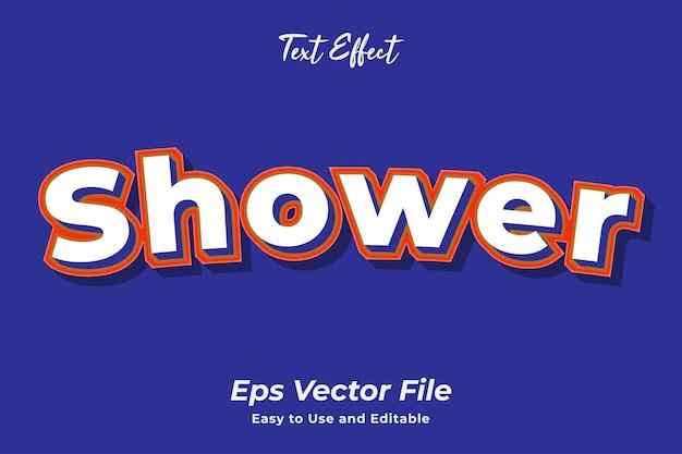 テキスト効果シャワー使いやすく編集可能なプレミアムベクター