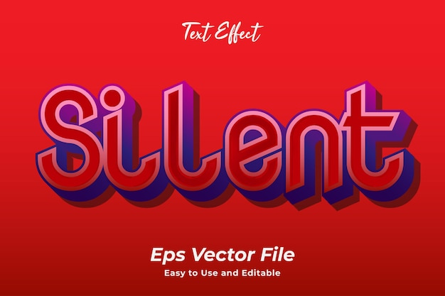 Text effect silent editable and easy to use premium vector