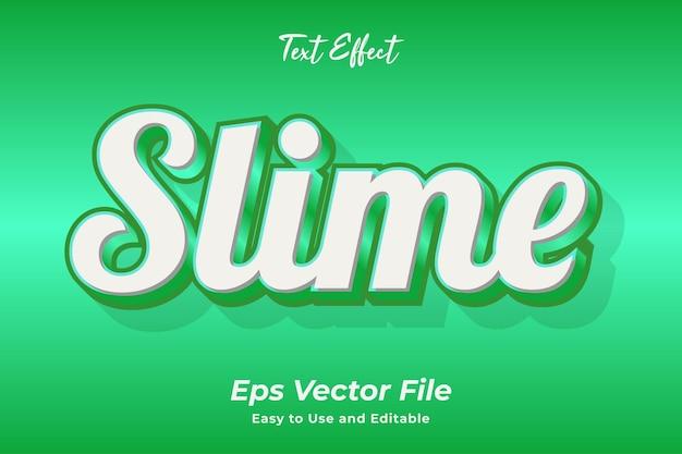 Текстовый эффект слайм редактируемый и простой в использовании премиум векторы