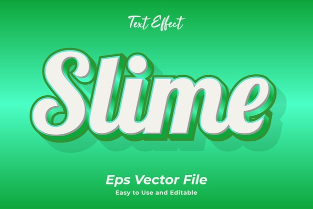 Text effect slime editable and easy to use premium vector
