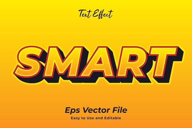 Текстовый эффект smart простой в использовании и редактируемый премиум векторы