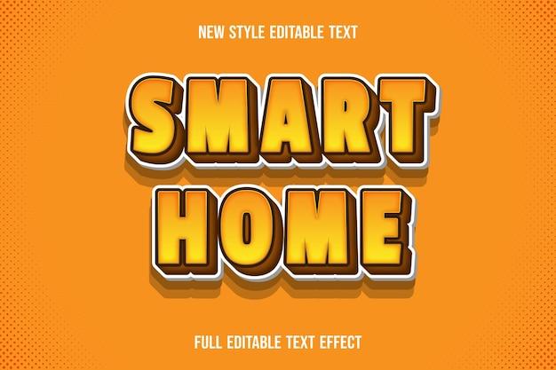 Текстовый эффект умного дома на оранжевом и коричневом градиенте