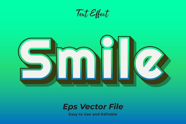 텍스트 효과 미소 편집 가능하고 사용하기 쉬운 프리미엄 벡터