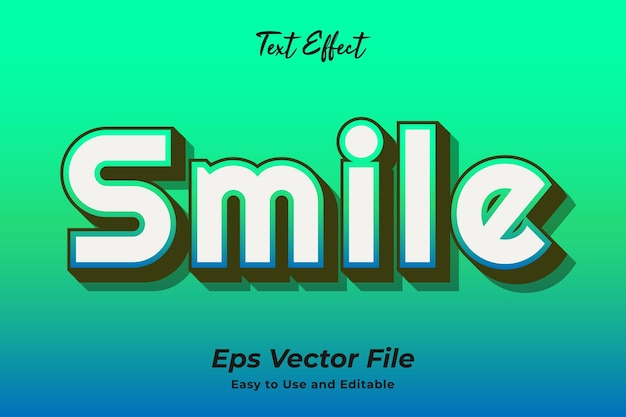 Text effect smile editable and easy to use premium vector