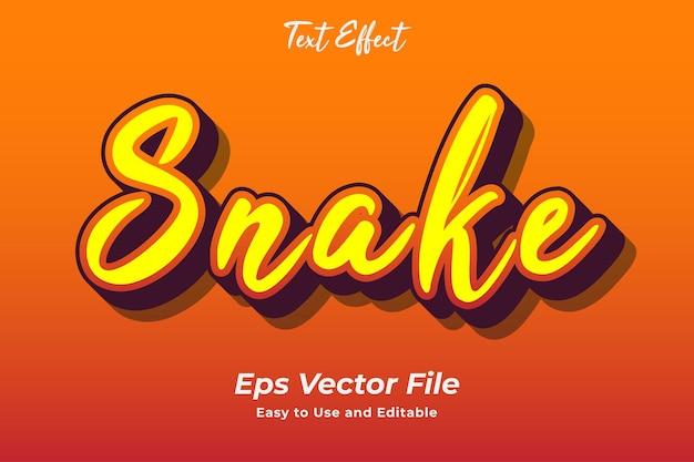 Текстовый эффект змея редактируемый типографический эффект