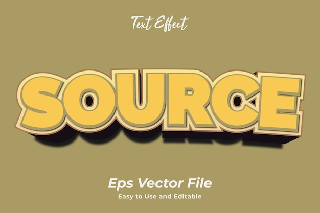 Text effect source editable and easy to use premium vector