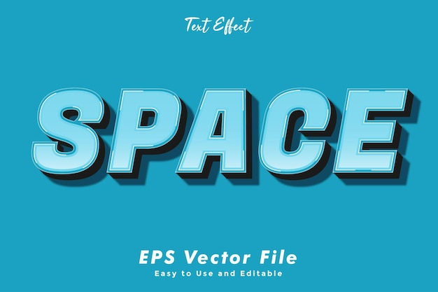 Text effect - space.