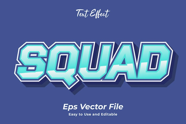 Text effect squad editable and easy to use premium vector