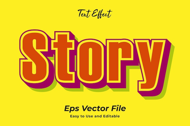 Text effect story editable and easy to use premium vector