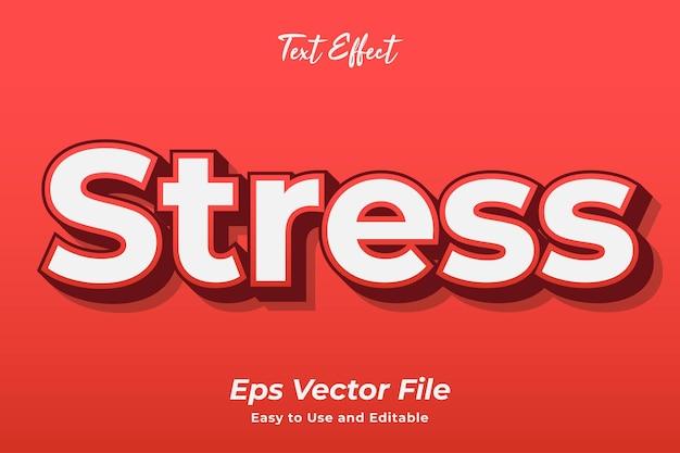 텍스트 효과 스트레스 편집 가능하고 사용하기 쉬운 프리미엄 벡터