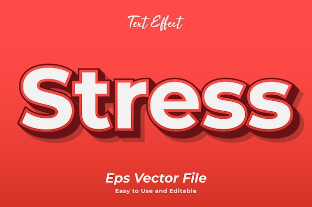 Text effect stress editable and easy to use premium vector
