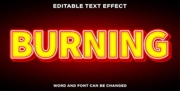 Text effect style burning