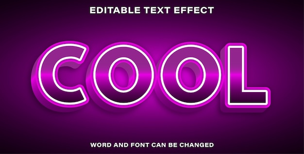 Text effect style cool