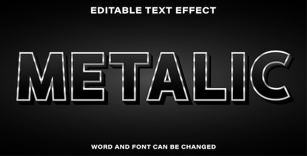 Text effect style metalic
