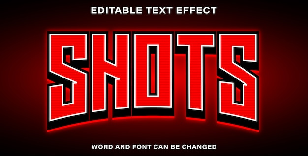 Text effect style shots