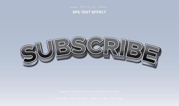 Текстовый эффект подписаться редактируемый