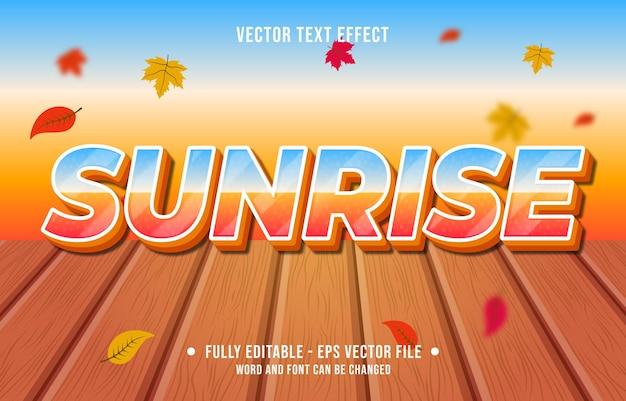 Text effect sunrise gradient style autumn season background