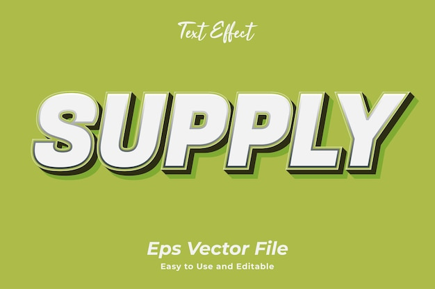 Text effect supply editable and easy to use premium vector