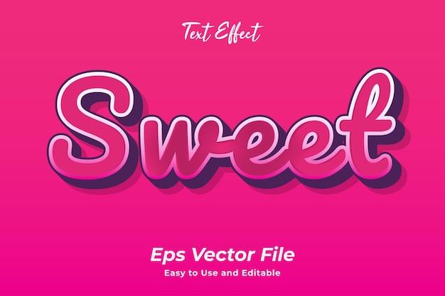 Text effect sweet editable