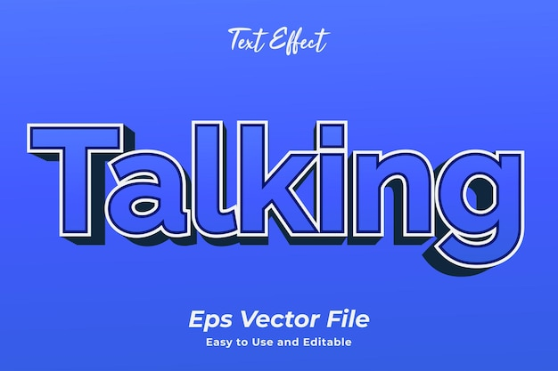 Text effect talking editable and easy to use premium vector