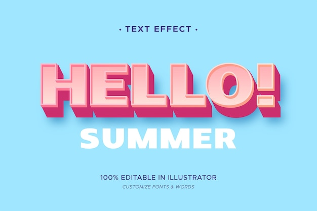 Text effect theme