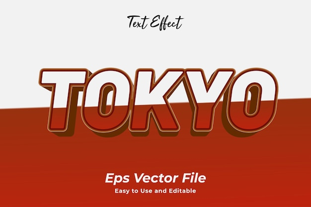 Text effect tokyo editable and easy to use premium vector