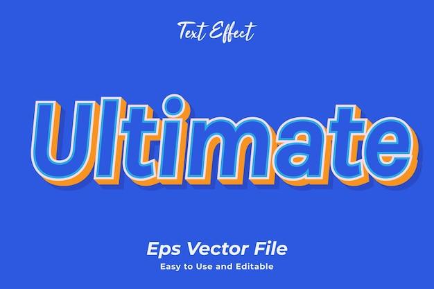 텍스트 효과 궁극의 편집 가능하고 사용하기 쉬운 프리미엄 벡터