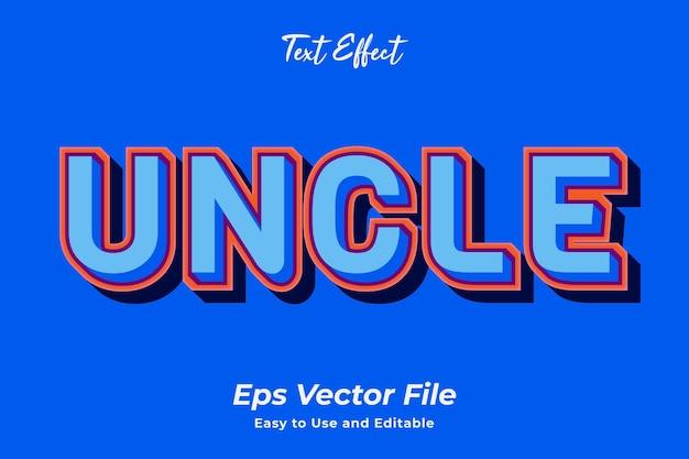 Текстовый эффект дядя редактируемый