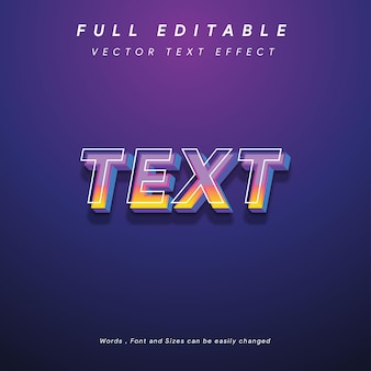 텍스트 효과 벡터 전체 편집 가능한 현대 미래 스타일