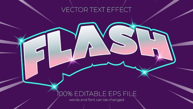 Text effect vector illustration,flash text effect